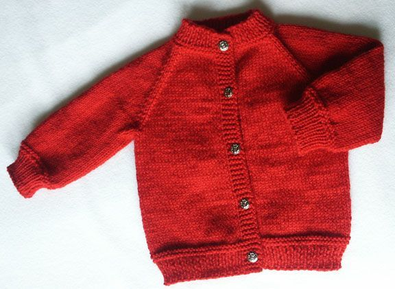 Baby's Raglan - no seams Sweater - free. I Love these top down ...