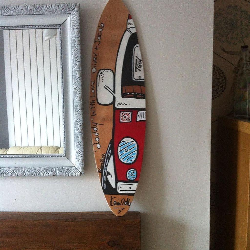 Another surfboard wall art finished vwcampersurfingsurfvwvwbus