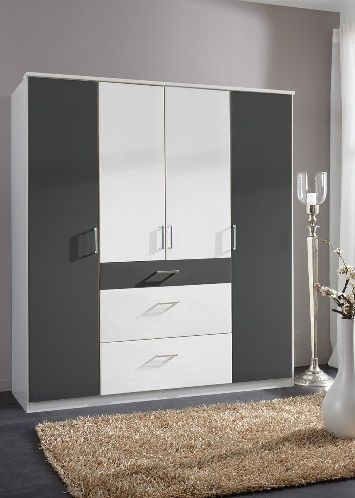 Marvelous Kleiderschrank Click Wei Anthrazit Buy now at https