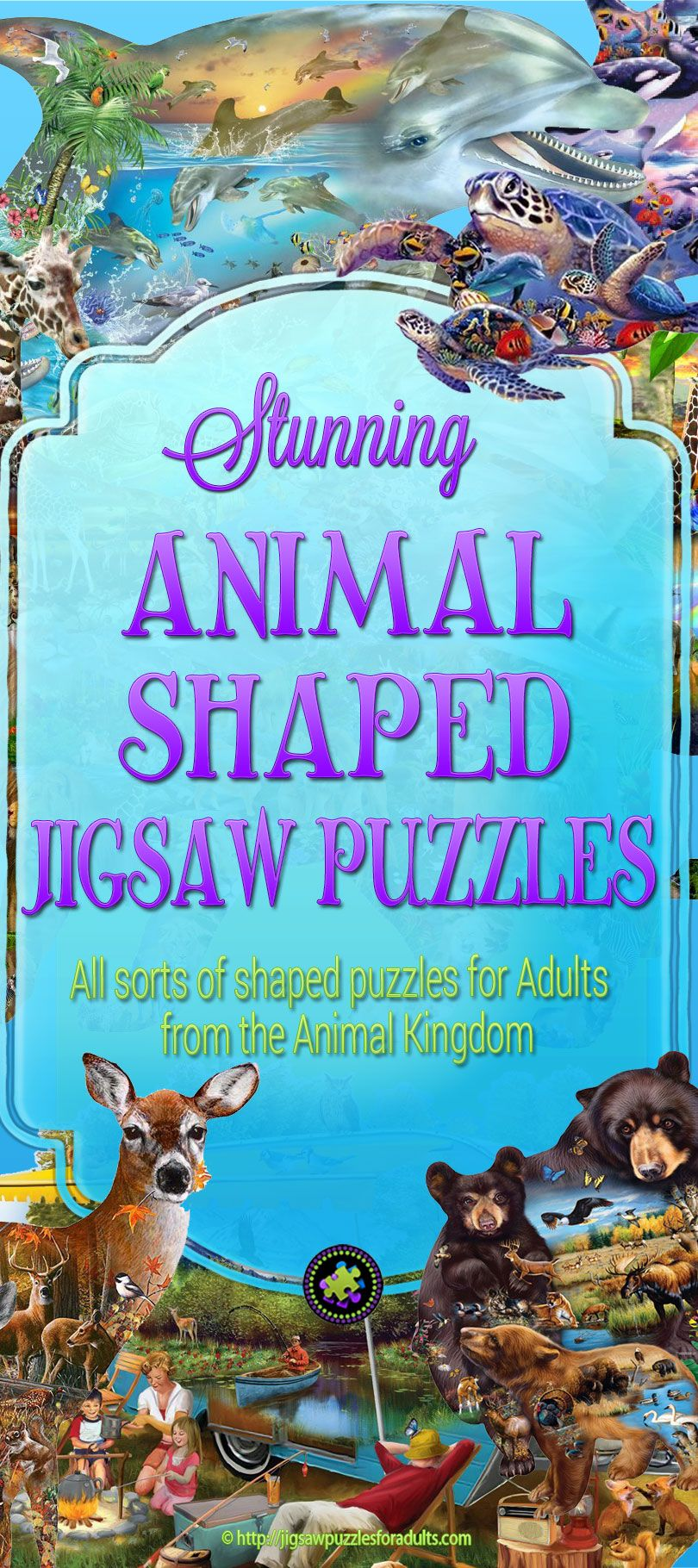 Animal Shaped Jigsaw Puzzles Jigsaw puzzles, African
