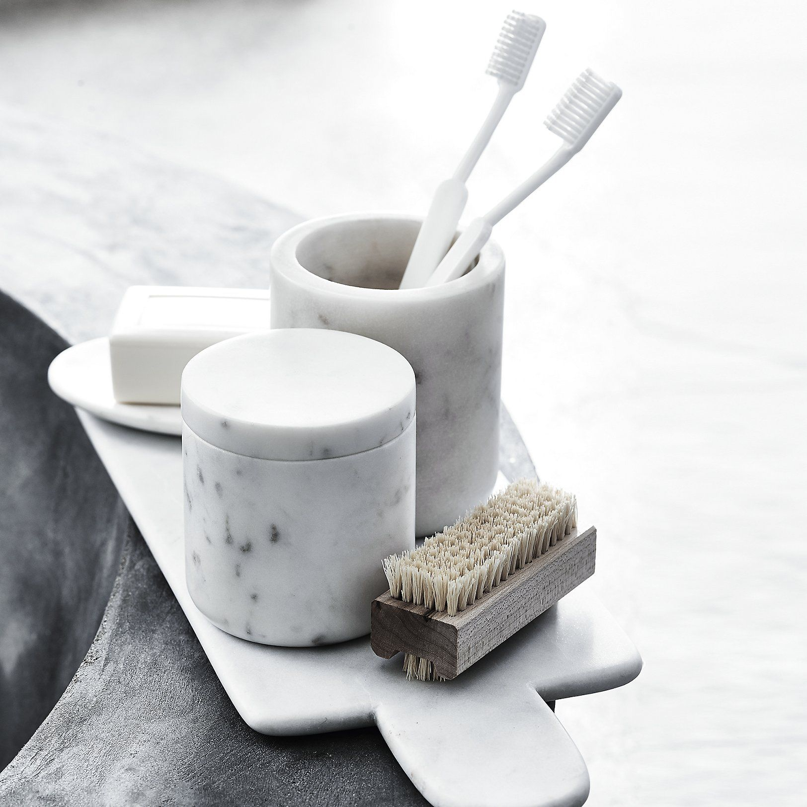 marble toothbrush holder | the white company us. shopping from the