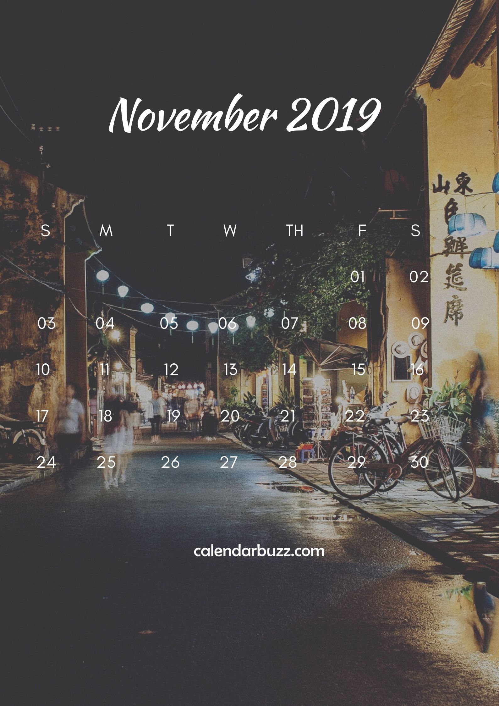 November 2019 iPhone Calendar Wallpapers | Обои для ...