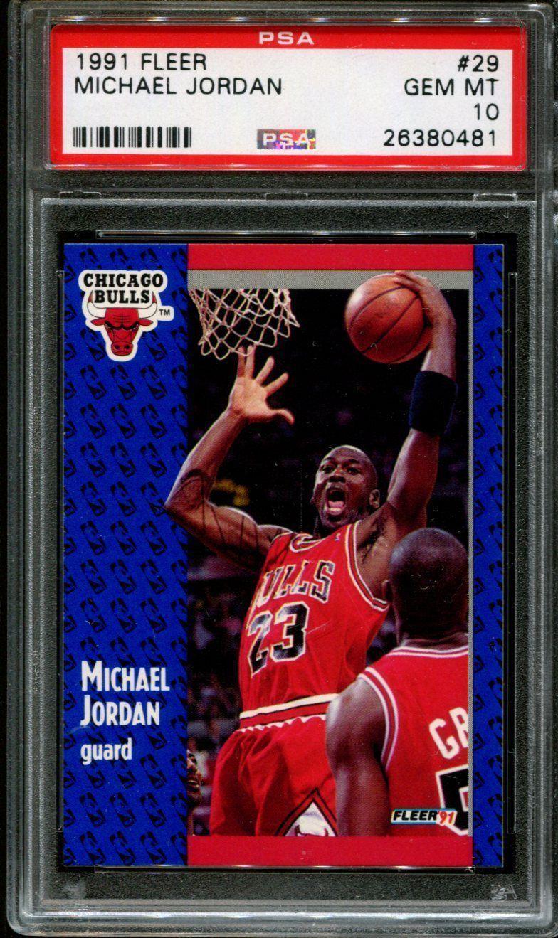 1991 fleer 29 michael jordan bulls hof psa 10 psa10