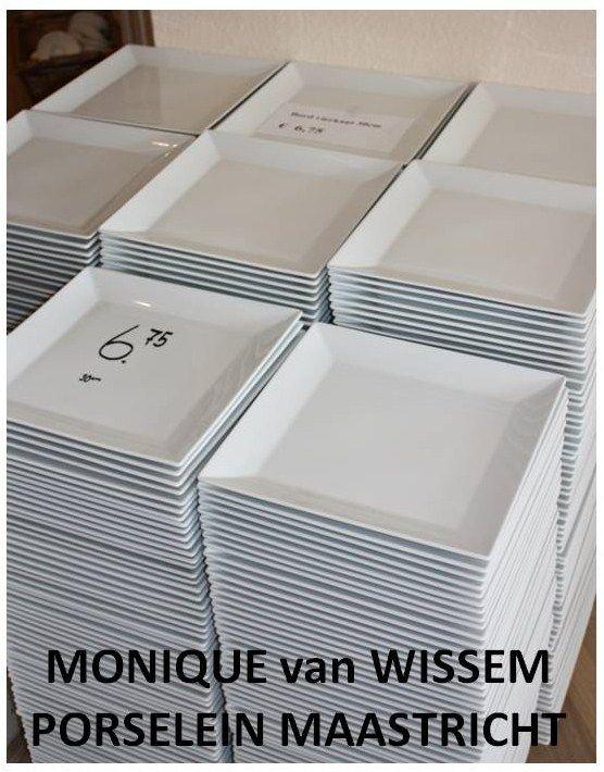 Verwonderlijk grote vierkante borden porselein 30x30cm horeca kwaliteit OQ-21