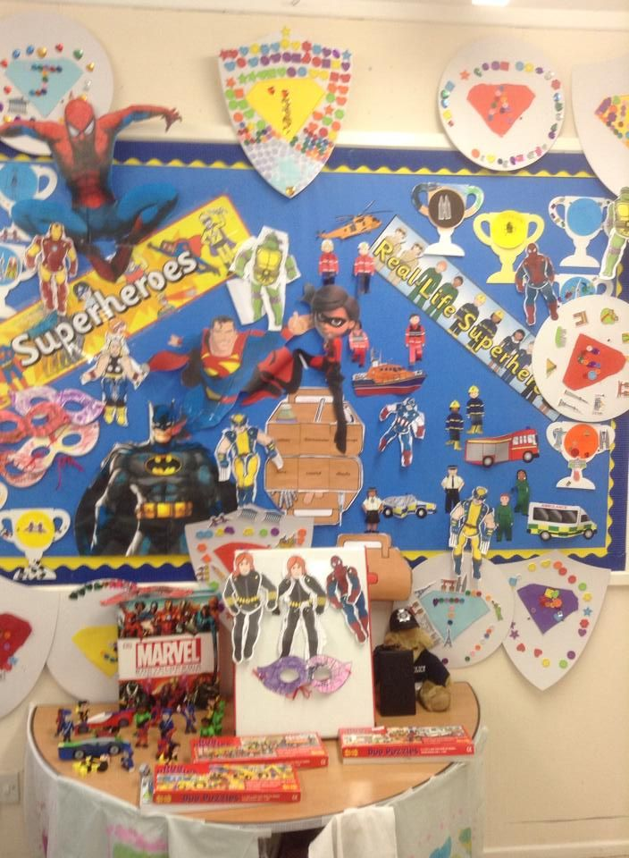 Classroom Display Ideas Ks4 ~ Lovely superheroes display classroom displays