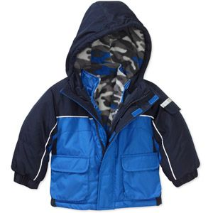 376770df0cc2 Faded Glory Baby Boys  4-in-1 Systems Jacket