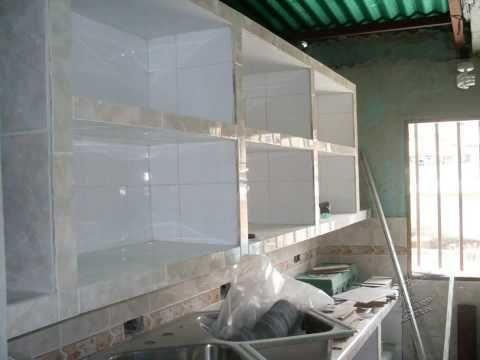 Construcción de cocina empotrada en concreto y ceramica   youtube ...