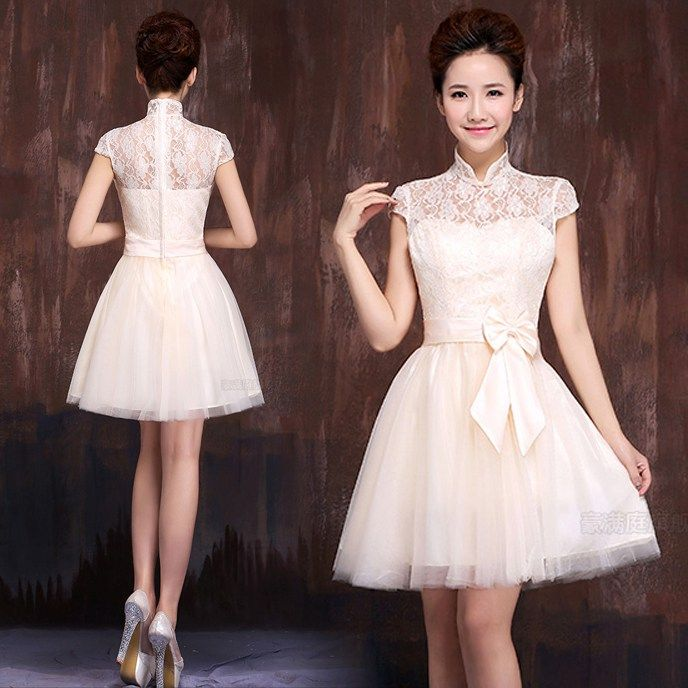 Short a Line Dress Chinese