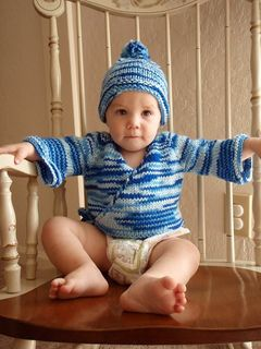 dc6c3a4e4797 Bulky Seamless Baby Kimono pattern by Jacki Kelly