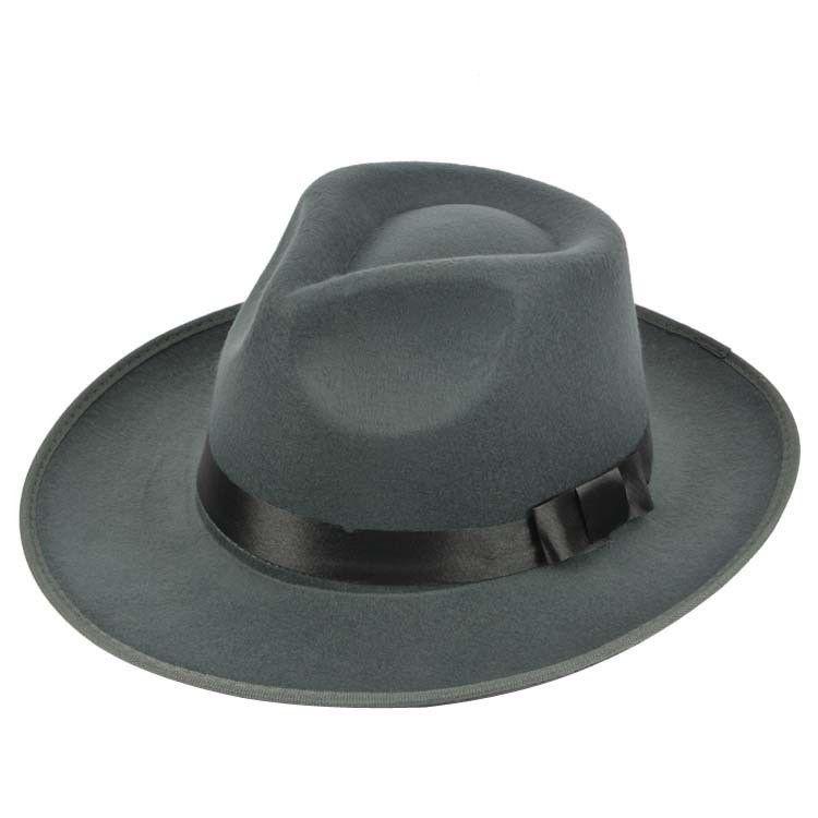 ff35aa6fa High Quality All Season Male Man Beach Fashion Jazz Women Cap Men Hard Felt  Fedora Panama Bowler Wide Brim Gangster Caps Sun Hat