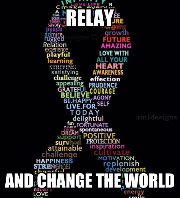 Relay For Life- Change The World By Creating A World With