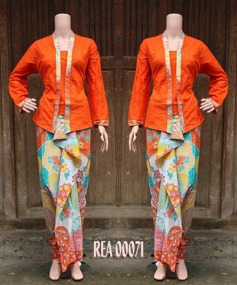 Batik Rok N Blus Rea00071 Orange Details N Order Via Bbm D3a73aca