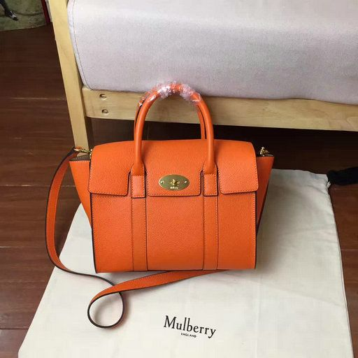 13d3e86498 ... coupon code for oak brass 2017 new mulberry small new bayswater bag  bright orange natural grain