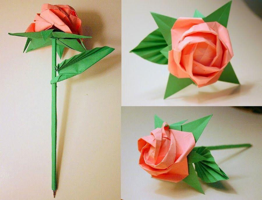 Free Printable Origami Rose Origami Rose Paper Roses Origami Rose Flower