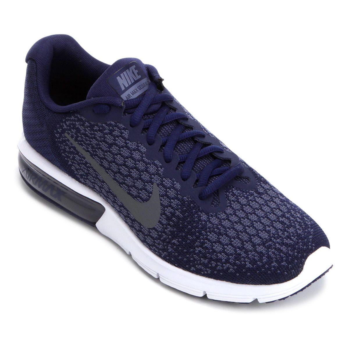 a3a0e8ab2f Tênis Nike Air Max Sequent 2 Masculino - Azul e Cinza