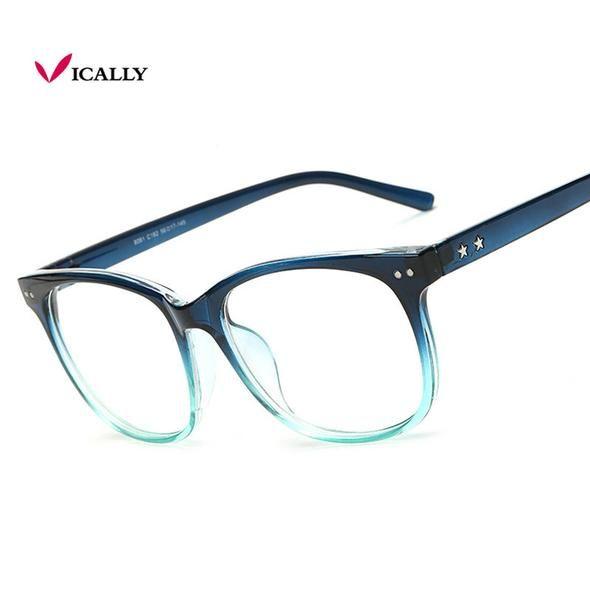 61ad1b3509d18 Multicolor Eyeglasses Frames Men Women Fashion 2017 Plain Mirror Ultralight  Acetate Eyewear Male Vintage Glasses Frame Women Men