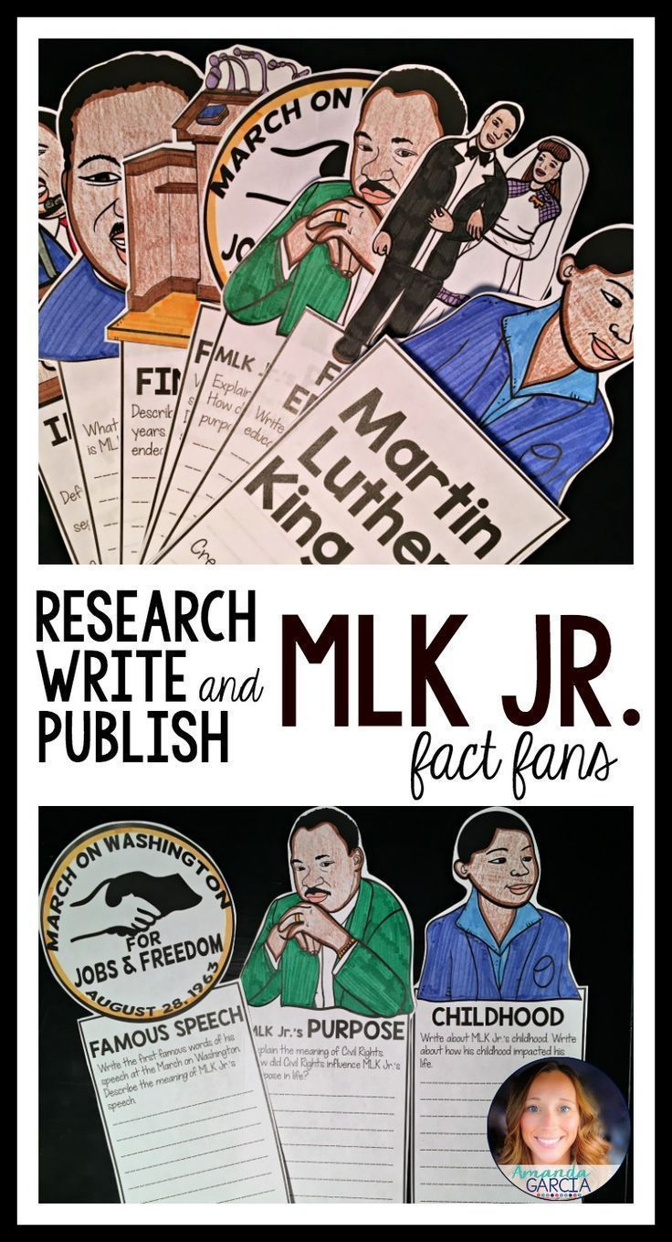 Mlk Jr Martin Luther King Jr Fact Fans Interactive Notebooks
