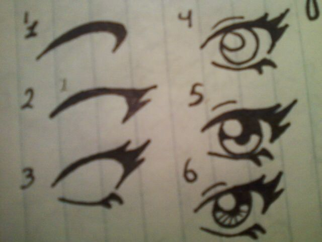 How to draw anime eye