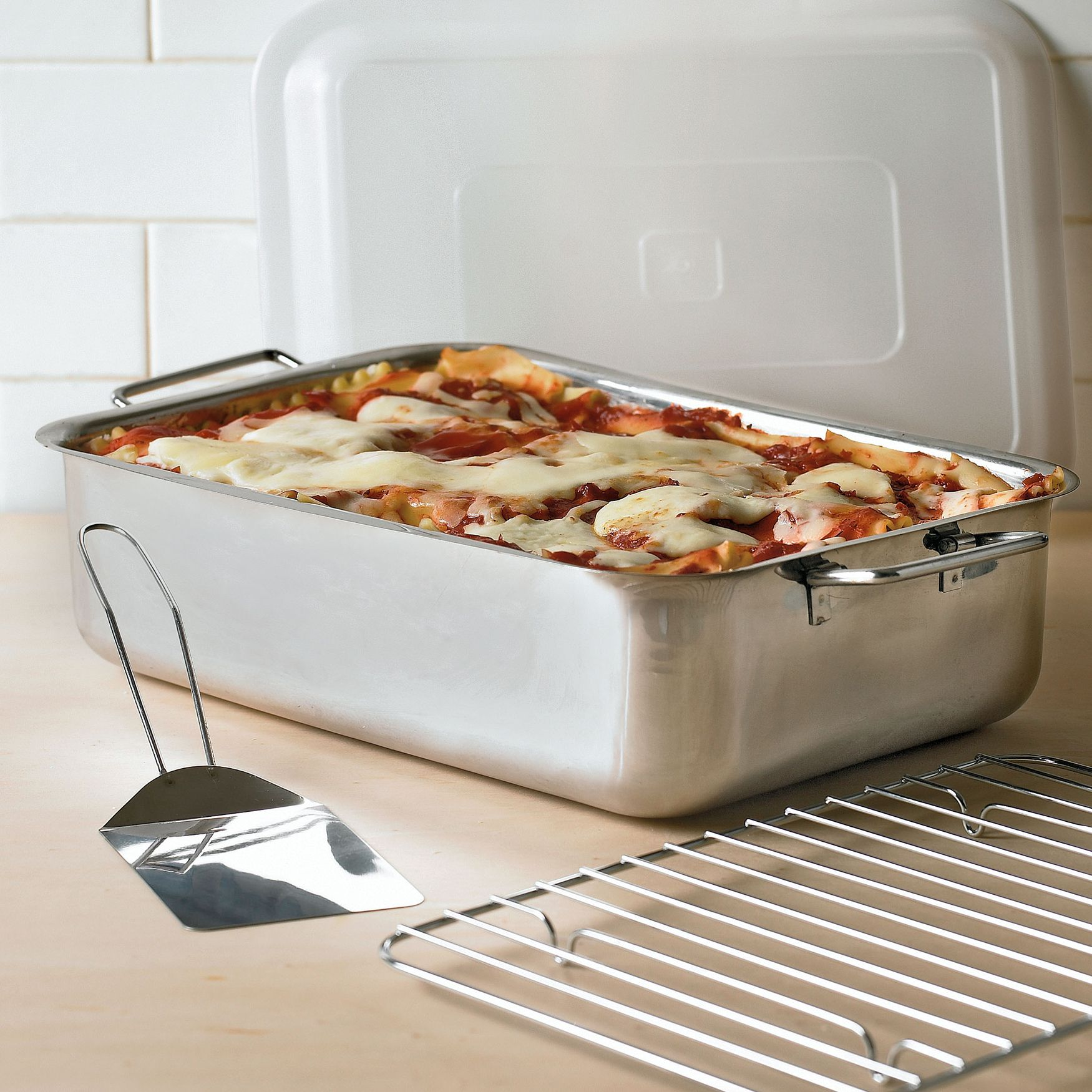 Our Extra Deep Lasagna Pan Doubles As A Roaster New