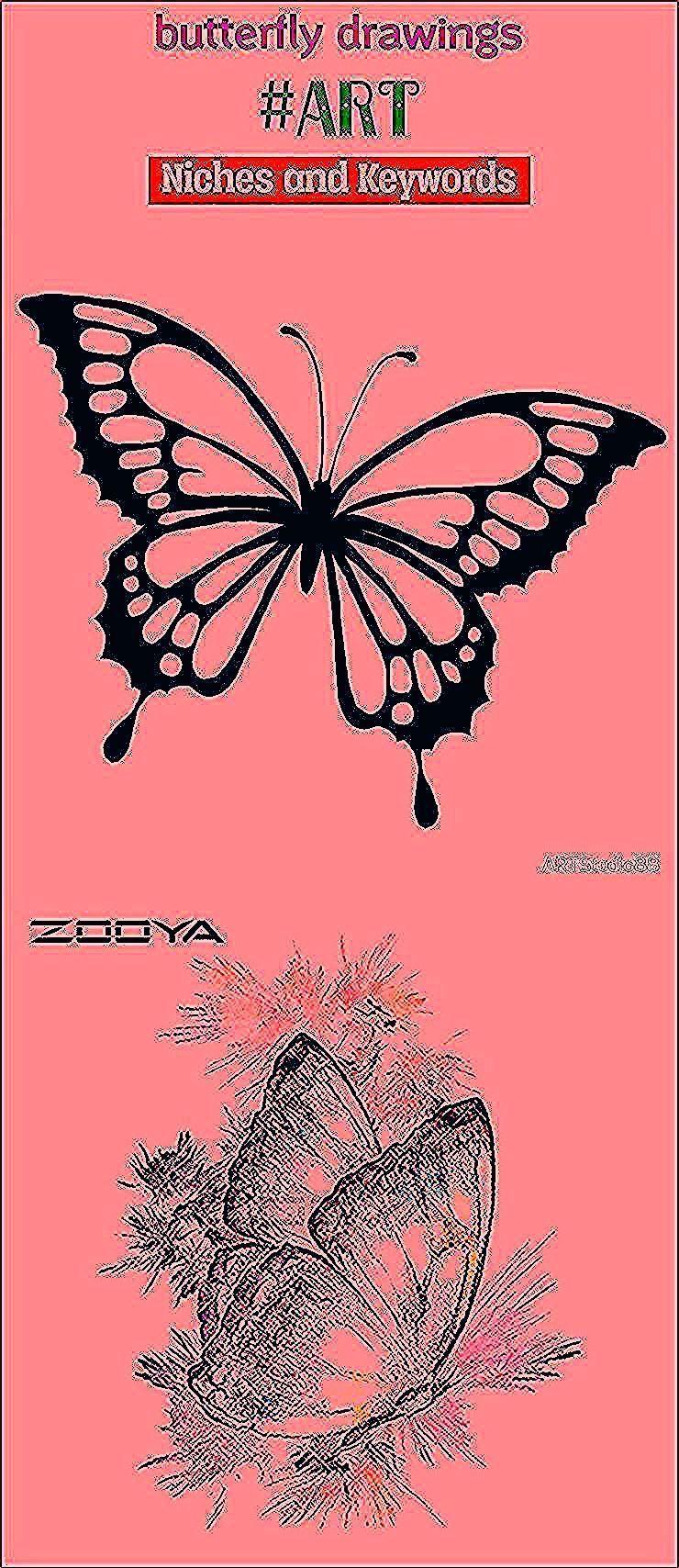 Butterfly Drawings Art Seo2020 Trending Drawings Easy Drawings Ideas Pencil Drawings Drawings Sketches In 2020 Butterfly Drawing Pencil Drawings Easy Drawings