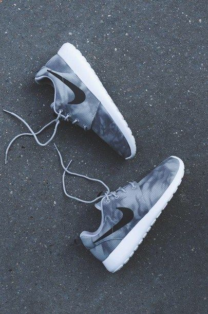 89c8feba1c0fb Shoes  nike fade tumblr black fade nike roshe runs grey sneakers nike grey  grey off washed sporty