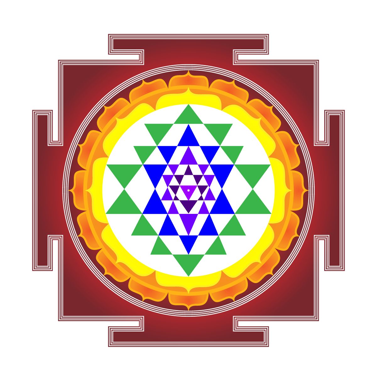 The Sri Yantra is an ancient symbol used for meditation ...