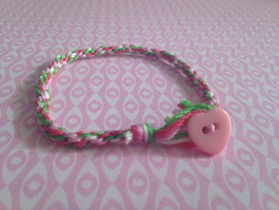Valentine's day rope bracelet by Gisellepinktree on Etsy