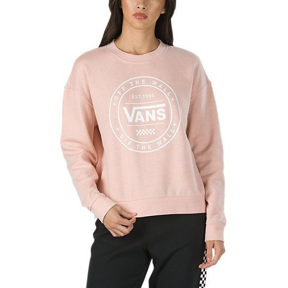 Circled Vans Crew Sweatshirt  Shop Womens Sweatshirts Circled Vans Crew Sweatshirt  Shop Womens Sweatshirts Woman Sweatshirts diver zip front sweatshirt woman