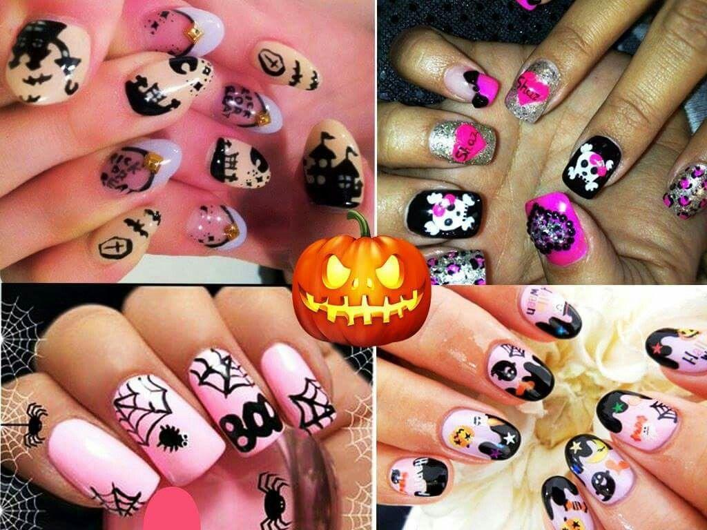 Pin by Michellenorell Kiara on uñas de hallowen jack y mas  Pinterest