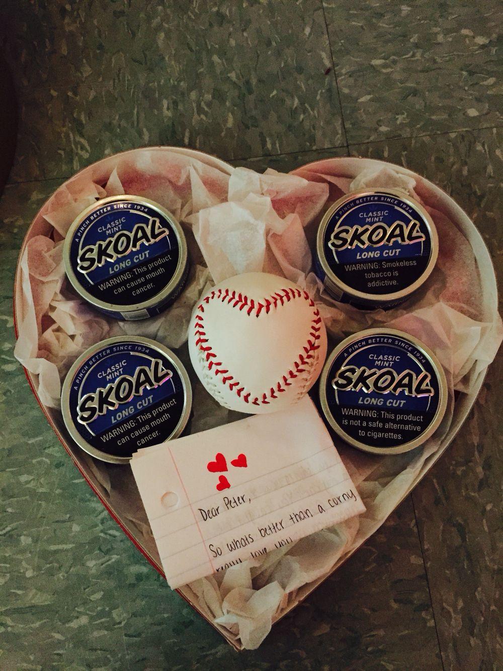 Valentines Day gift for him baseball girlfriend