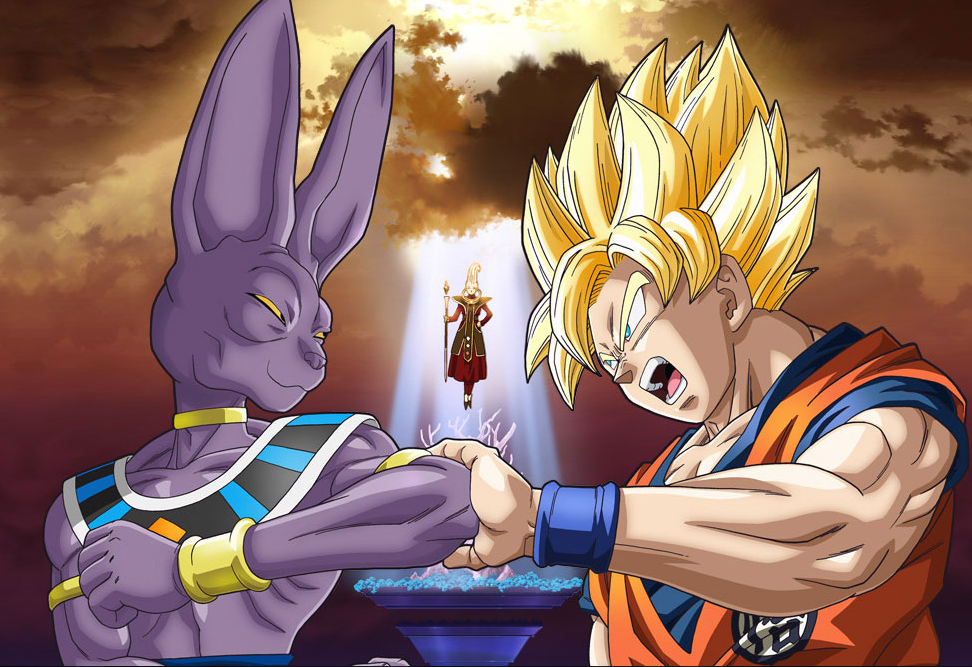 Dbz Battle Of Gods Super Saiyan 3 Goku Vs Bills Blogger Pack