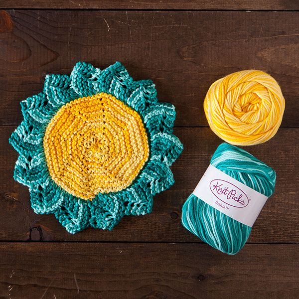 Starflower Dishcloth in Dishie Multi from knitpicks.com   Knitting ...
