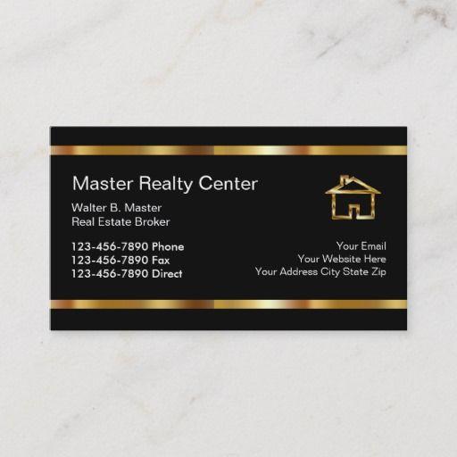Upscale Real Estate Broker Business Cards Zazzle Com Real Estate Business Cards Real Estate Broker Real Estate