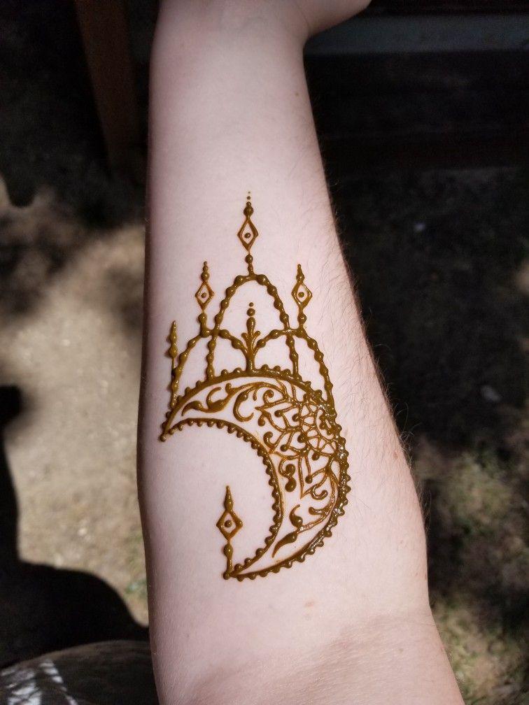 Mandala Moon Henna Tattoo Henna Tattoo Designs Beautiful Henna Designs Henna Tattoo