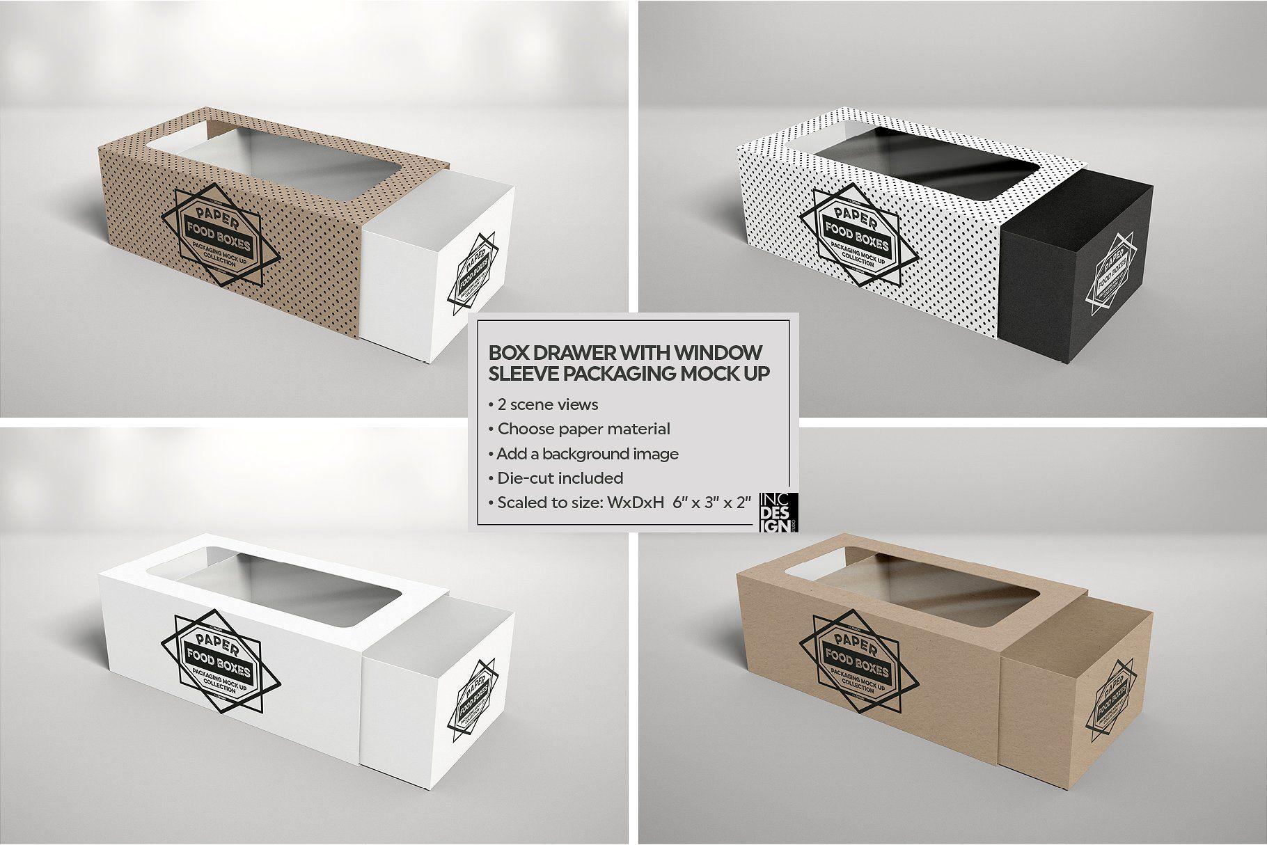 Download Box Window Sleeve Packaging Mockup Packaging Mockup Free Packaging Mockup Packaging