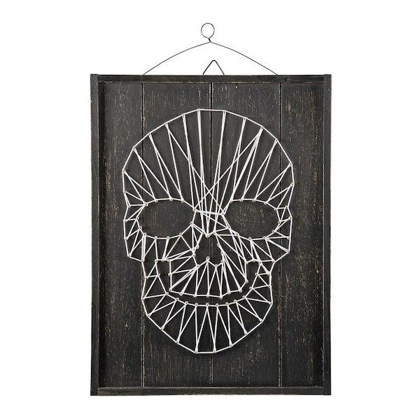 Skull String Art By Ashland ❤ Liked On Polyvore Featuring Home, Home Decor,  Wall