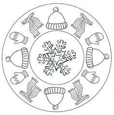 bildergebnis für thema winter kindergarten ausmalbilder winterkleidung | mandala malvorlagen