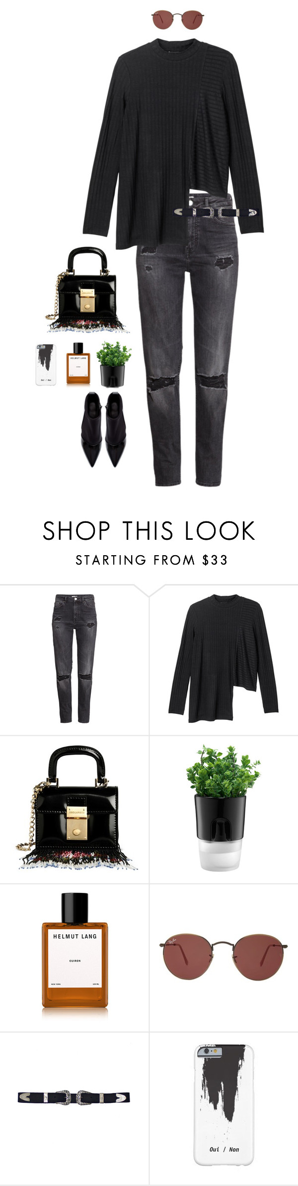 """Untitled #462"" by bareluxe ❤ liked on Polyvore featuring H&M, Monki, Dsquared2, Bodum, Helmut Lang, Ray-Ban, Zara, women's clothing, women and female"