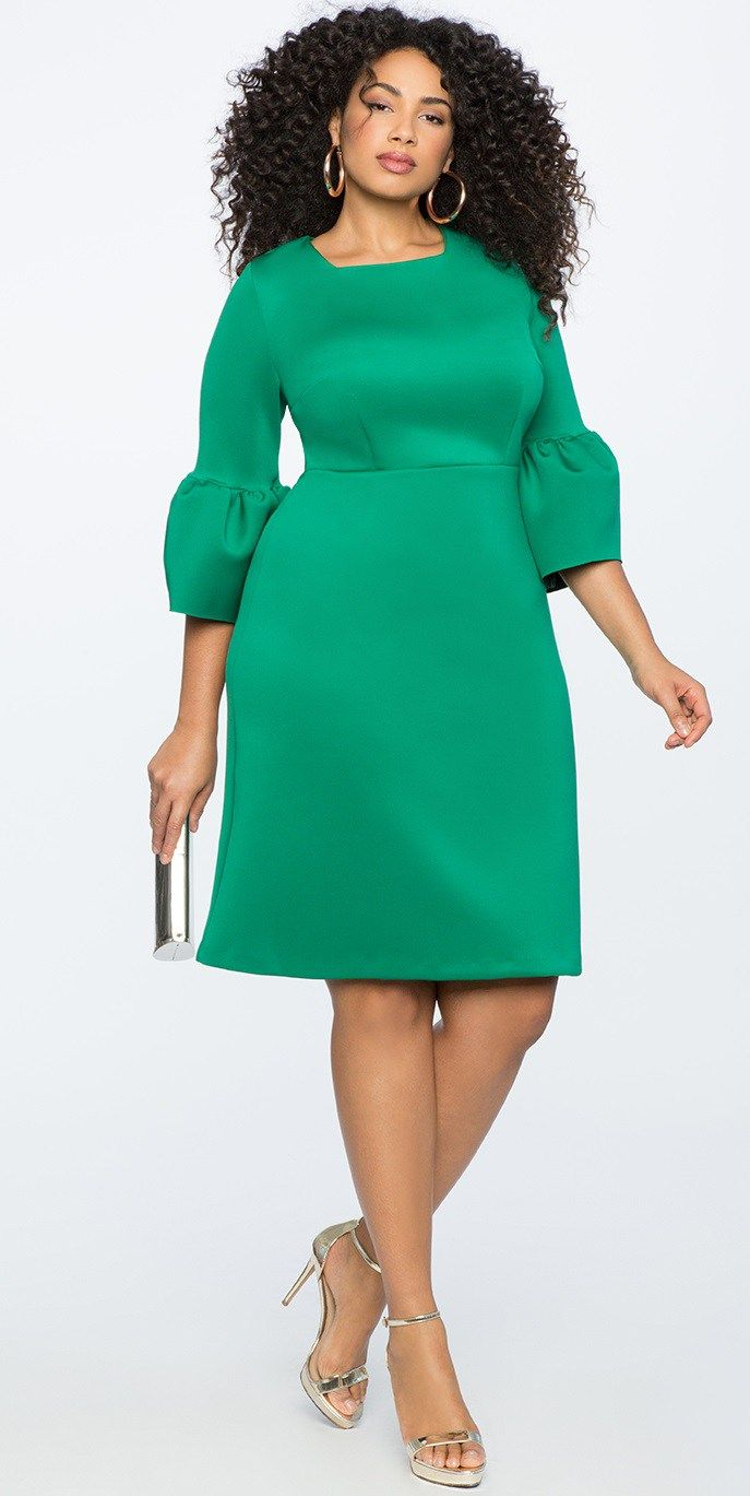 Plus size dresses for a wedding   Plus Size Spring Wedding Guest Dresses with Sleeves  Outfits I