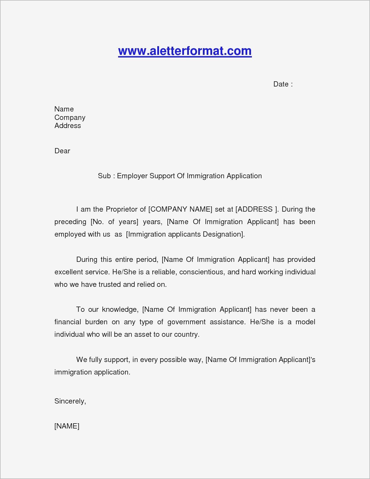 Letter From Friends for Immigration Beautiful Letters for