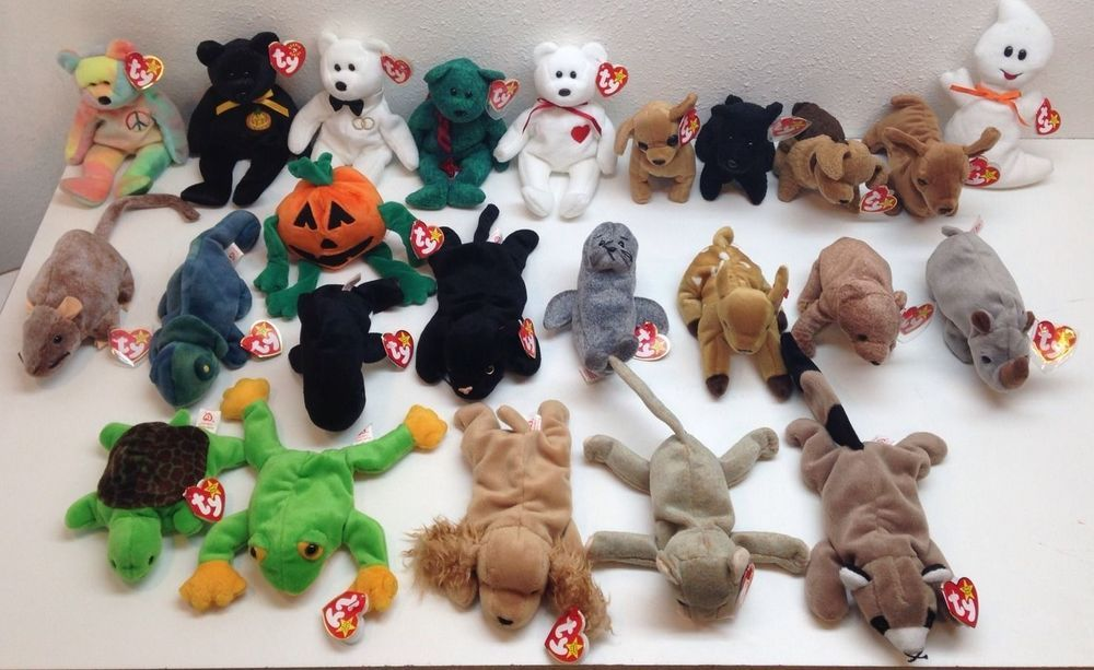 Ty Beanie Baby Original Collection of 24 Beanie Babies Great Condition NWT   Ty This a great collection of beanie baby s. some have errors and some are  ... 23ad760bd824