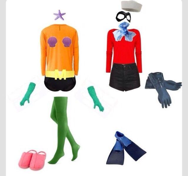 Cute Partner Costume For Best Friends Couple Halloween Costumes Boy Costumes Mermaid Man