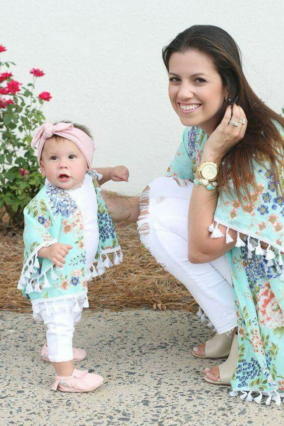 683a15cef Mommy daughter matching outfits. | Mamãe&Ivana | Mamma figlio ...