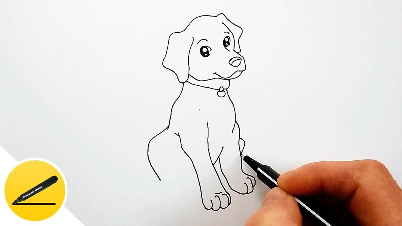 Uncategorized How To Draw A Dog For Kids Easy how to draw a dog step by easy for kids in this video i show you beginners