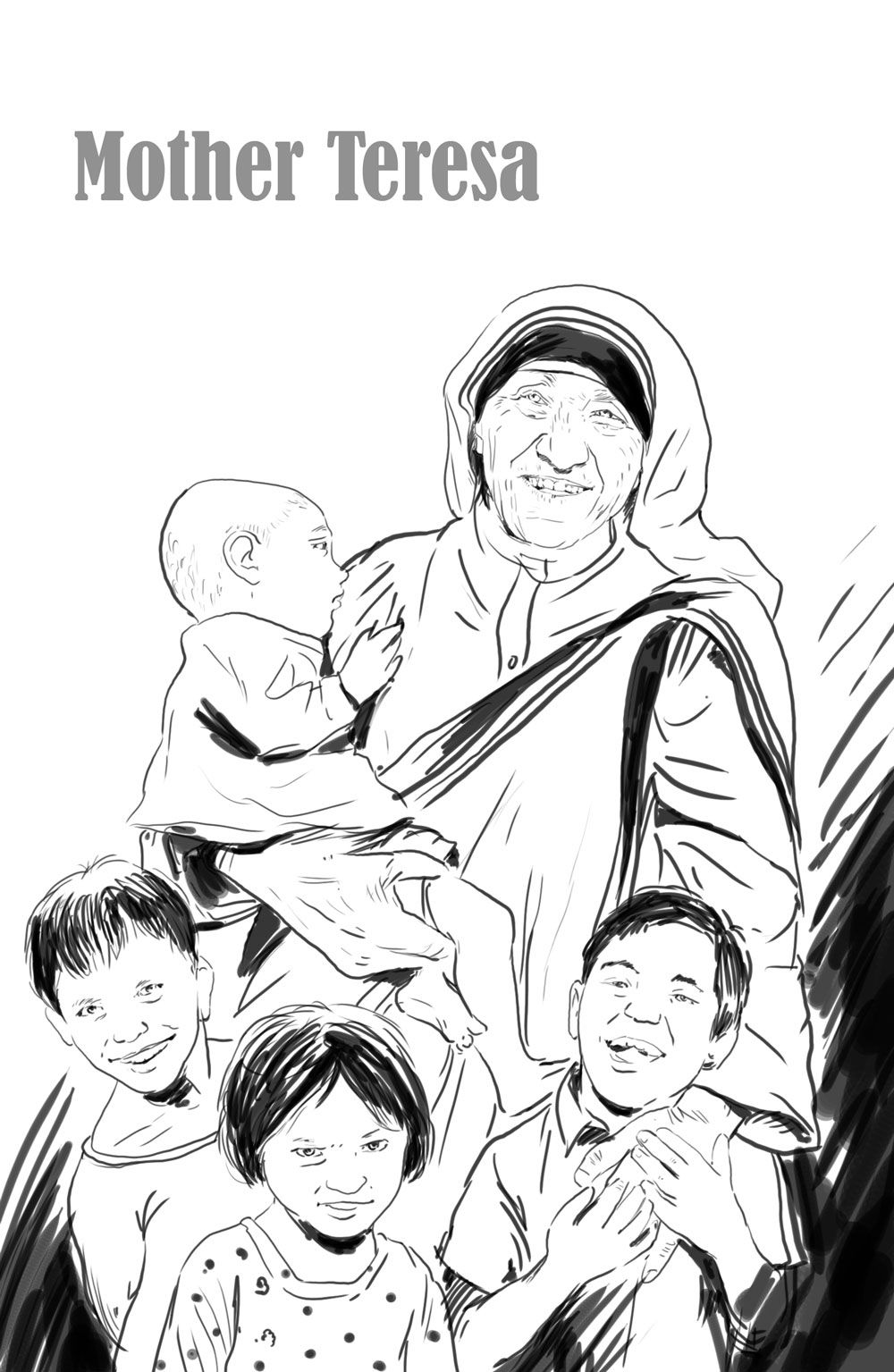 bpblogspotcom mother teresa with children coloring page