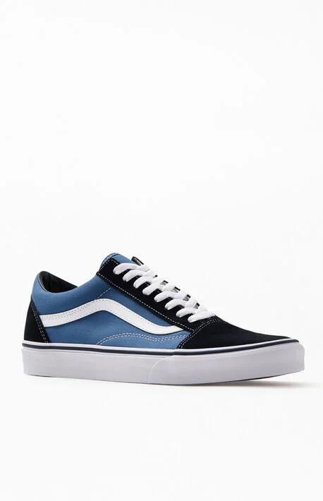 Vans Old Skool Navy Shoes in 2020 | Vans old skool navy