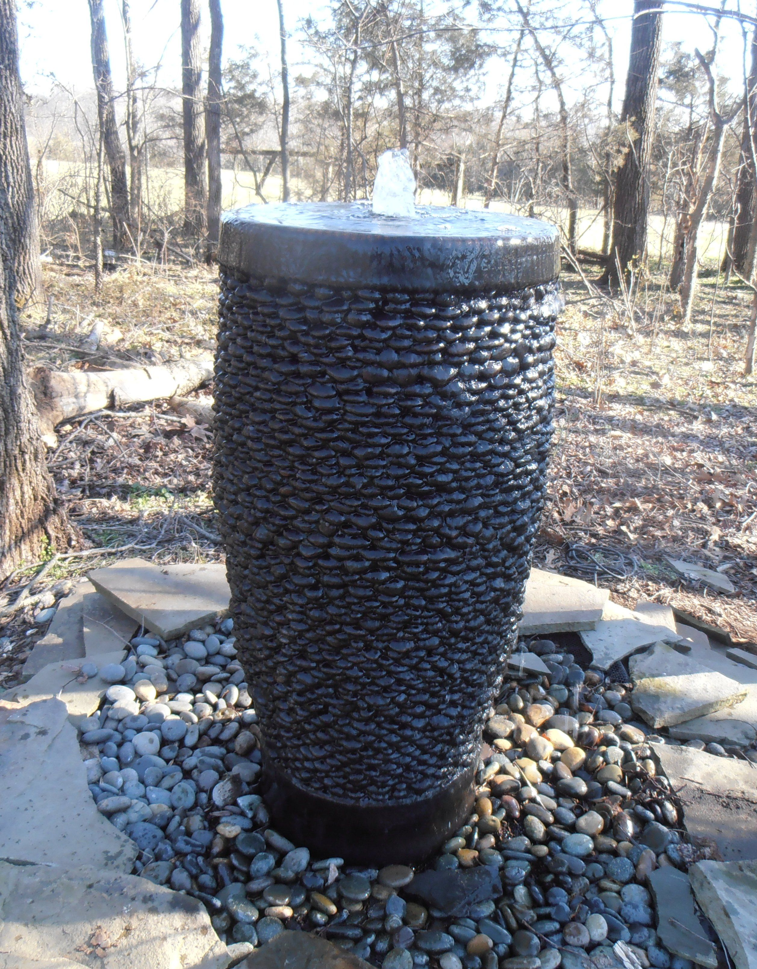 Pebble Pot Fountain On A Disearing System Video Of This Our Web Site