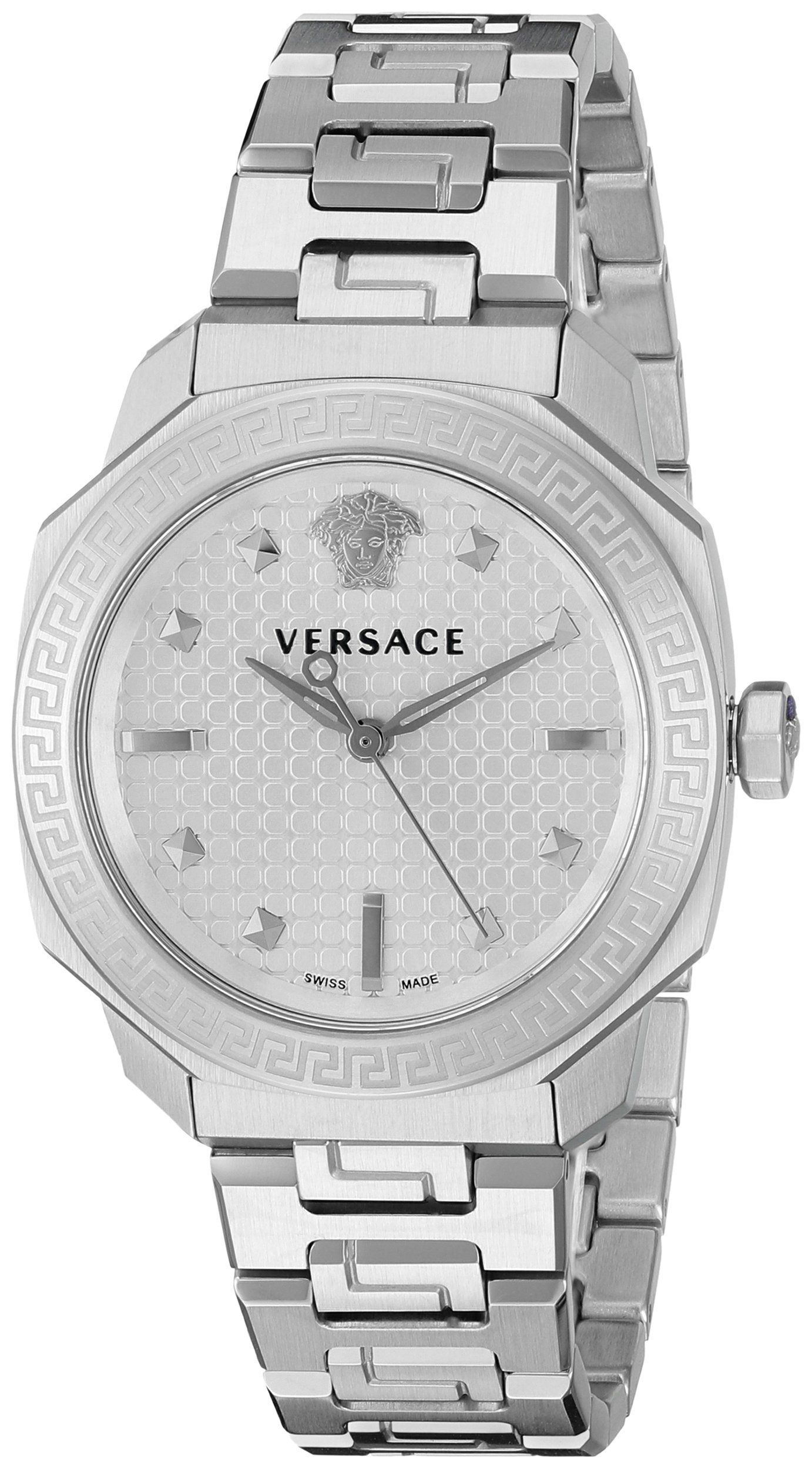 Versace womenus vqd dylos stainless steel bracelet watch