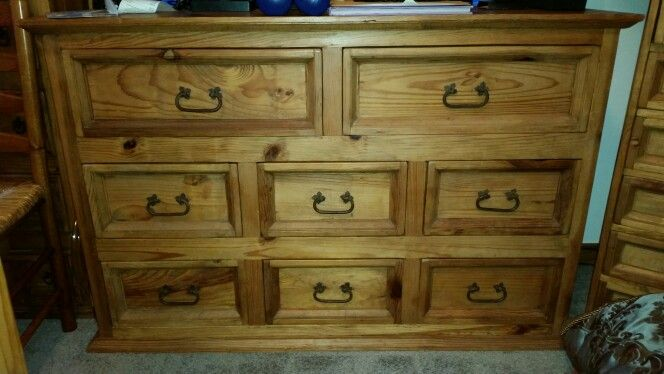 Pier 1 One Imports 8 Drawer Dresser 1998 Santa Fe Collection Rustic Mexican Pine Furniture 700