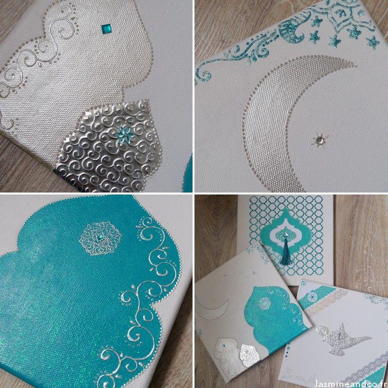 tableau oriental turquoise ramadan activit s pinterest oriental deco orientale et activit. Black Bedroom Furniture Sets. Home Design Ideas